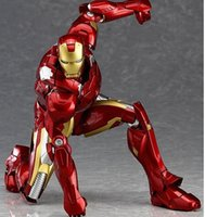 Wholesale Latex Cartoon Movies - The Avengers movie movable PVC model The simulation cartoon Iron Man Model boy hand toy child Christmas gift Furnishing articles
