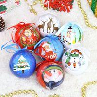 figuras de espuma venda por atacado-7 cm de espuma de luxo bolas de Natal pintura Indiana pintada enfeites de árvore de Natal bolas de Natal pintada Figura