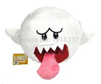 "Wholesale Super Mario Brothers Plush - Wholesale-6.5"" Super Mario Brothers Boo Ghost White Stuffed Plush Doll Toy New"
