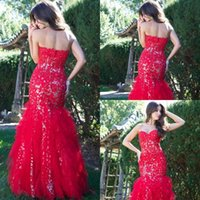 Wholesale Taffeta Trumpet Button Back - 2016 Luxury Mermaid Prom Dresses Cheap Long Floor Length Crew Sheath Party Evening Gowns Beaded Sequins Button Back Crew Neck Prom Dress