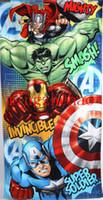 toalhas de banho para homens venda por atacado-2015 Varejo The Avengers Toalha / Ferro Homem de algodão toalhas de banho crianças Hulk toalha de praia crianças Capitão América toalha de banho