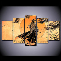 Wholesale Framed Comic Art - Comic Samurai Anime ,5 Pieces Home Decor HD Printed Modern Art Painting on Canvas   Unframed   Framed