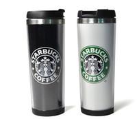 поездка из нержавеющей стали starbucks оптовых-Starbucks Кружки Стили из нержавеющей стали Кружки Гибкие Чашки кофе Чашку чая Путешествия Кружки Чайные Чашки Чашки вина