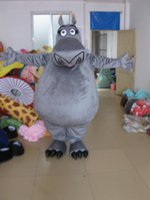 Wholesale Grey Hippo Costume - 2016 hot sale new Christmas grey hippo Mascot Costume for Halloween christmas Party Costume Character Outfit Fancy dress