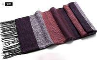Wholesale Cashmere Scarfs Cheap - Cheap men's imitation cashmere scarf Wraps vintage wide strips winter warm sports ski tassel long scarves shawl Christmas gift drop shipping
