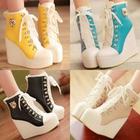 New Arrival Women's Super High Heel Shoes Wedge Platform Pompes Strappy Pumps