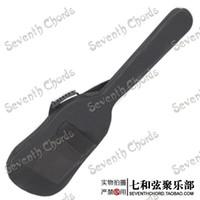 doble bajo al por mayor-Estuche negro impermeable de la bolsa de la gasa de la mochila de las correas dobles para la guitarra baja eléctrica Esponja del grueso de 5m m acolchada