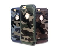 6S-Armee Camo Camouflage Hybird 2 in 1 PC TPU rückseitige Abdeckungs-Fall für iPhone 5 5S 6 6G 6S Plus-iPhone6S Samsung Galaxy S5 S6 Kanten Hinweis5 Anmerkung 4 A8