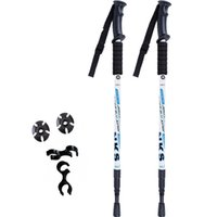 Wholesale carbon fiber wood - 2 Pcs   lot Anti Shock Nordic Telescopes Trekking Poles Trekking Ultralight Walking Sticks with Protective Rubber Tips