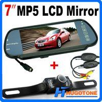 lcd camera nightvision achat en gros de-HD 7 pouces de voiture Bluetooth MP5 caméra de recul LCD Monitor Mirror Car renversant LED Nightvision sauvegarde caméra