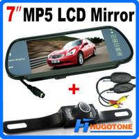 ntsc monitor großhandel-HD 7 Zoll Auto Bluetooth MP5 Rückfahrkamera LCD Monitor Spiegel Auto Rückfahrkamera LED Nightvision Kamera