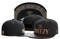 Wholesale Weezy Caps - WEEZY black Cayler & Sons Men Women snapback hats leather brim Hip Hop cheap fashion snapbacks adjustable hats on sale TY