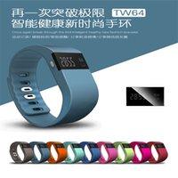 спортивный браслет оптовых-Водонепроницаемый IP67 Смарт Браслеты TW64 Bluetooth фитнес-трекер активности Smartband браслет Pulra браслет часы не FitBit Flex Fit бит