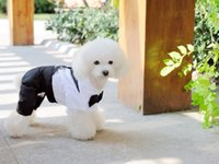 2015 Outono Pet Dogs Gato Vestuário Tuxedo Traje de laço Costume Puppy Jumpsuit Coat Clothing Apparels