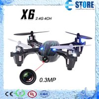 Wholesale Top 4ch Rc Helicopters - 0.3MP Camera Drone Top Selling X6 Quadcopter RC VS Hubsan X4 H107C 4CH 2.4G w  Remote Control Toys RC Helicopter