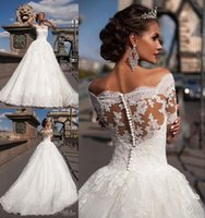 Wholesale Discount Short Simple Wedding Dresses - 2016 Millanova Plus Size Wedding Dresses Discount A Line Off Shoulder Half Sleeves Vintage Lace Bohemian Maternity Wedding Bridal Gowns