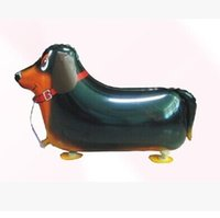 Wholesale Dachshund Toy - 18 Inch Walking Pet Animal Dachshund Helium Aluminum Foil Balloon Cute Kids Baloon Toys Gifts For Christmas Wedding Birthday Party Supplies