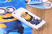 Wholesale Despicable Iphone5 Case - Wholesale-2015 new phone case TPU Soft cover case cartoon god steal dads soft rubber Despicable Me minions lovely case for iphone5 5s