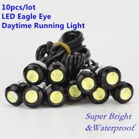 lámparas de respaldo al por mayor-10PCS LED Mini Eagle Eye Parking Luz diurna de conducción diurna Copia de seguridad DRL Lámpara antiniebla Perno en el tornillo Iluminación del coche LED lámpara de ojo agle