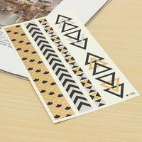 Wholesale Stickers For Tattoos - Temporary Waterproof Art Decor Metallic Tattoos Flash Inspired Tats Sticker For Women