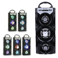 spielkarten im freien großhandel-Neue Ankunfts-im Freien bewegliche drahtlose Bluetooth-Sprecher MS-220BT Eonec FM Radio AUX LCD-Bildschirm LED Shinning TF-Karten-Musik-Spielen