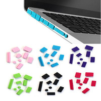 Wholesale Dustproof Macbook - Colorful Silicone Anti Dust Plug USB Data Ports Cover Set for Macbook Air Pro Laptop Notebook Dustproof Stopper Free DHL