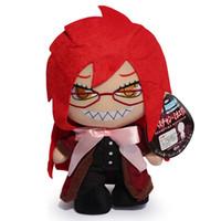 brinquedos de anime preto mordomo venda por atacado-12 polegadas Frete Grátis Black Butler Kuroshitsuji Grell Sutcliff Cosplay De Pelúcia Brinquedo De Pelúcia
