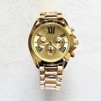 Wholesale Clock M - 2017 Hot Gold Luxury Brand Casual M Men Watch Dress Quartz Watches with Calendar Women Bracelet Japanese Style stainless steel band clock
