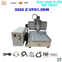 Wholesale Metal Etching Machines - Free tax to UK!!Ball Screw metal etching machine 3020 Z-VFD1.5KW with 1.5KW VFD,desktop CNC marble headstone engraving machine