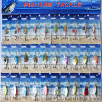 Wholesale Spinner Bait Fishing Lures Metal - 30pcs Metal lure spinnerbait super fishing equipment hardlure pike salmon bass artificial bait card
