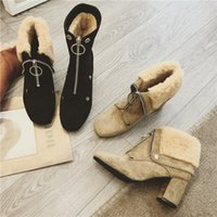 Wholesale Long Boots For Sale - Designer autumn new boots ankle long zipper thickening dual purpose plush warm lady boots for sale