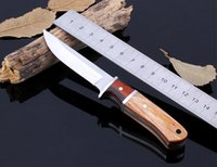 Wholesale Tops Small Fixed Knives - 2PCS Lot Small Straight Knife Fixed Blade with 5CR13 Packed with Nylon Sheath EDC Camping Tool Outdoor Tops Knife ESEE Knives DH091