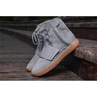 Wholesale wholesale men boots - Boost 750 LGIGRE GUM3 Kanye West Classic Casual Shoes 2017 NewestGLOW IN DARK BB1840 Men Outdoosr Sneaker Footwaer 750 Boosts