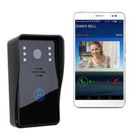 высококачественная видеокамера оптовых-High Quality WiFi Remote Video Camera Door Phone Rainproof Intercom Doorbell Free Shipping