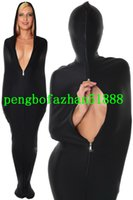 Wholesale mummy cosplay - Black Lycra Spandex Mummy Suit Costumes Unisex Sleeping Bags Unisex Sexy Mummy Costumes Outfit Halloween Party Fancy Dress Cosplay Suit P058