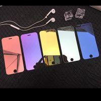ingrosso porcellana di protezione dello schermo del telefono-Placchi dello specchio di colore per l'iPhone 5/6/7/8 schermo Inoltre vetro temperato Protector per il telefono cellulare frontale diretto Shenzhen in Cina fabbrica OEMODM