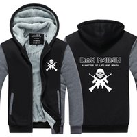 Nuovi Hoodies Iron Maiden uomini Band con manica lunga Giacca rock musica pesante di metallo Thicken Zip up Steve Harris Tops Plus size