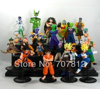 Wholesale Dragon Ball Figures Set - 20x Crazy Party Dragon Ball Z GT Action Figure Japanese Anime Figures Toys CELL FREEZA Goku 10CM PVC 20PCS SET Free Shipping