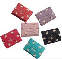 Wholesale Bear Grils - Lovely Bears Women Grils Wallets Small Short Wallet Clutch Bag Female Card Holder Pu Short Wallet