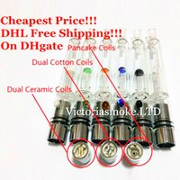 Wholesale Cheapest Ecig Wholesale - Cheapest DHL Glass Hookah atomizer vhit atomizer tank Dry Herb Wax Vaporizer herbal vaporizers pen water filter pipe ecig e cigarette bongs