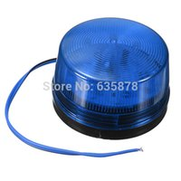 Wholesale Security Alarm For Laptops - For DC 12V Security Alarm Strobe Signal Warning Blue LED Flash Siren Light Free Shipping order<$18no track
