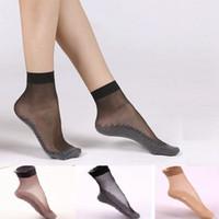 Wholesale Womens Black Spandex Shorts - Wholesale-1 Pair of Ankle Socks, Womens Girls Nylon , Spandex and Cotton Ankle Socks Short Socks, 4 colors: black, grey, brown, nude
