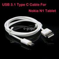 c n1 adaptateur achat en gros de-USB 3.1 Type C mâle vers USB 2.0 A mâle 1 m Câble Adaptateur type-c Câble de charge USB-C pour 12 pouces Nouveau Macbook Nokia N1