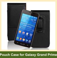 dikey kese klipsi toptan satış-Toptan Yeni Kemer Klip PU Deri Dikey Kapak Çevirin Kılıfı Samsung Galaxy Grand Başbakan G530 Ücretsiz Kargo