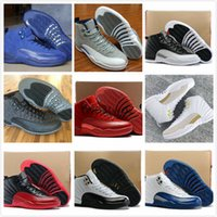 Nuevo Retro 12 Premium Deep Royal Blue Suede Basketball Shoes Hombres 12s Royal Blue Black Nylon Sneakers High Quality With Shoes Box