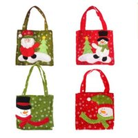 Wholesale gift bags dhl shipping for sale - Christmas Candy Bags Holder Pockets Handbag Gift Xmas Home Decoration Ornament Supplies Creative Gift Bag Styles DHL