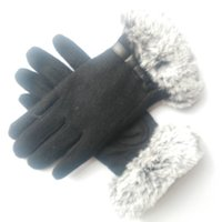 Wholesale Dark Purple Gloves - Wool warm thickened ladies fashion fake fur gloves, a generation of fat