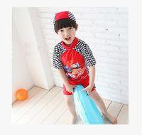 Wholesale Anime Boy One Piece - 2016 Summer new children swimwear boys anime swimwear kids swimsuits children one pieces boys beachwear BH1784