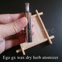 Wholesale Ego Dual Core - Ego gx atomizer double coils wax dry herb ceramic cotton rob vaporizer dual heating tank ecig with 5 kinds of coil D-CORE DHL