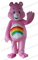 Wholesale Pink Care Bear Costume - AM8140 Care Bear Mascots Animal mascot outfit, party costumes, adult fancy dress Fur mascot free shipping